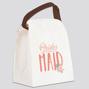 Bridesmaid Flowers Canvas Lunch Bag
