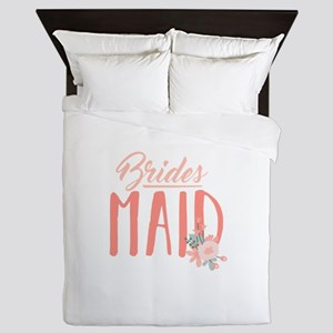 Bridesmaid Flowers Queen Duvet