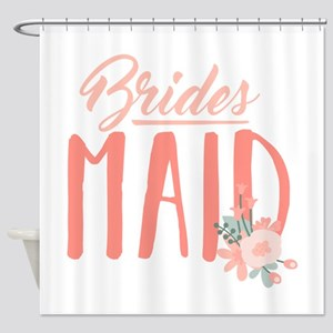Bridesmaid Flowers Shower Curtain