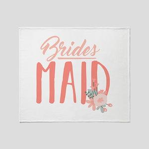 Bridesmaid Flowers Throw Blanket