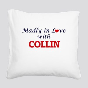 Madly in love with Collin Square Canvas Pillow