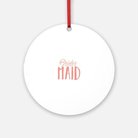 Bridesmaid Round Ornament