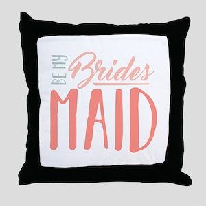 Be My Bridesmaid Throw Pillow