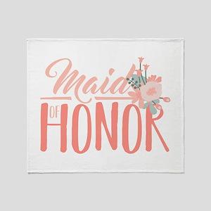 Maid Of Honor Throw Blanket