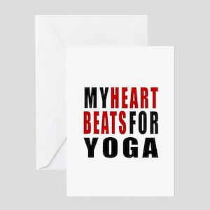 My Hear Beats For Yoga Greeting Card