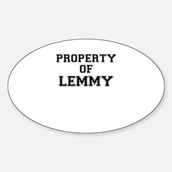 Property of LEMMY Decal