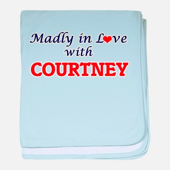 Madly in love with Courtney baby blanket