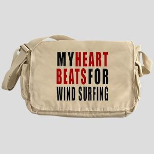 My Hear Beats For Wind Surfing Messenger Bag