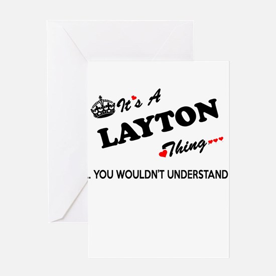 LAYTON thing, you wouldn't understa Greeting Cards