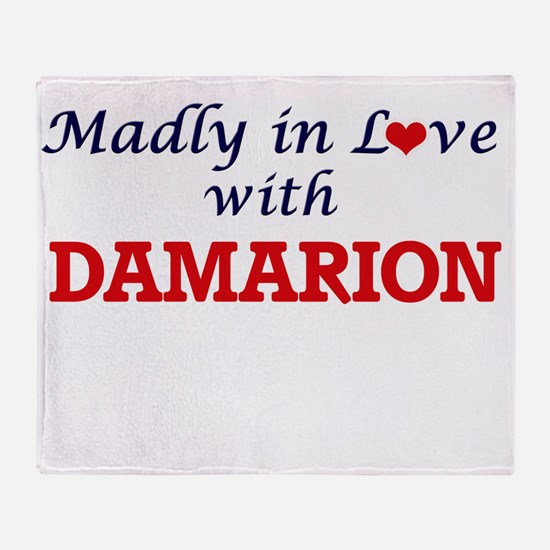 Madly in love with Damarion Throw Blanket
