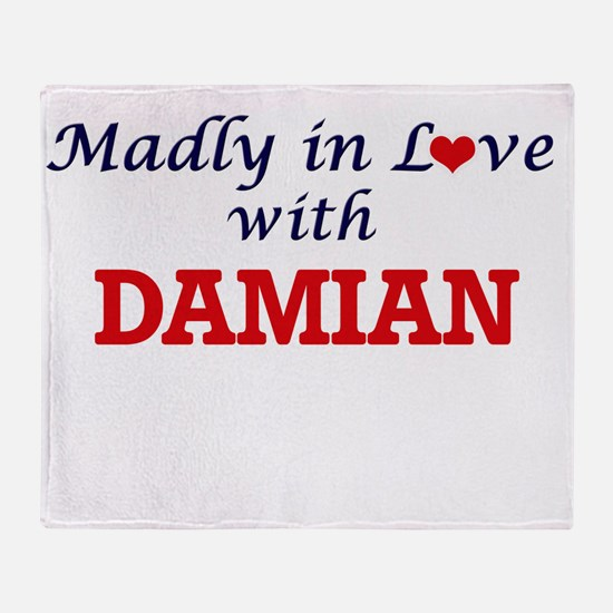 Madly in love with Damian Throw Blanket