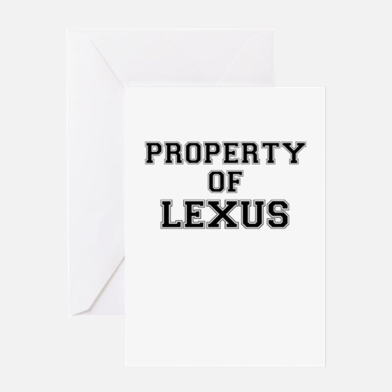 Property of LEXUS Greeting Cards