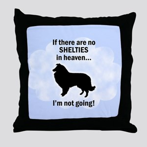 Shelties In Heaven Throw Pillow