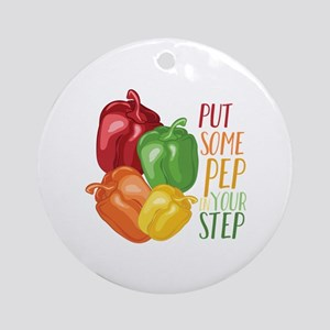Pep In Step Round Ornament