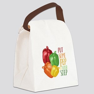 Pep In Step Canvas Lunch Bag