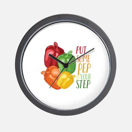 Pep In Step Wall Clock