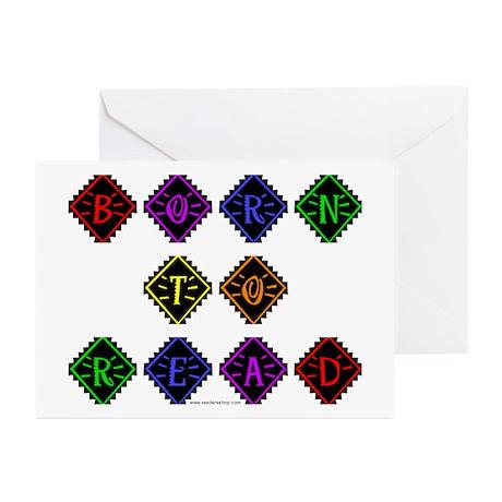 Born to Read Diamonds Greeting Cards (Pk of 10)