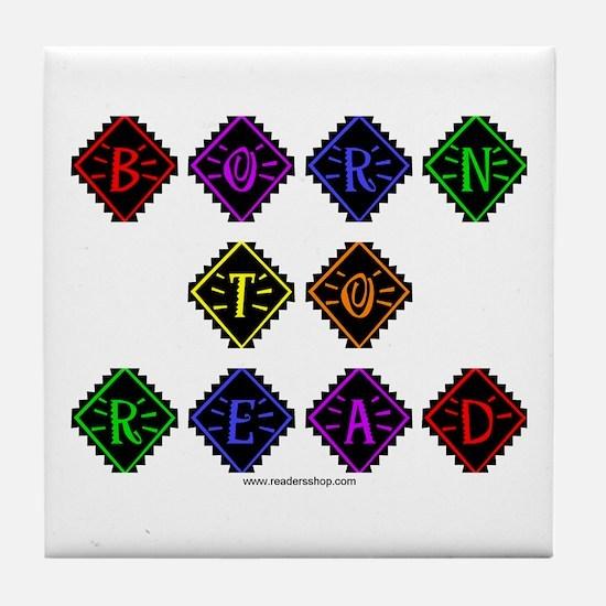 Born to Read Diamonds Tile Coaster