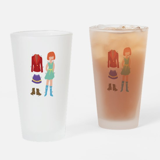 Paper Doll Drinking Glass