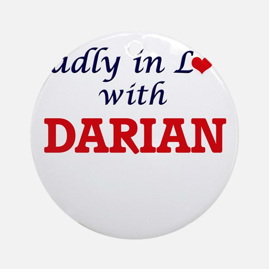 Madly in love with Darian Round Ornament