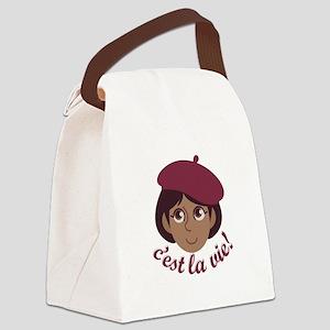 Cest La Vie Canvas Lunch Bag