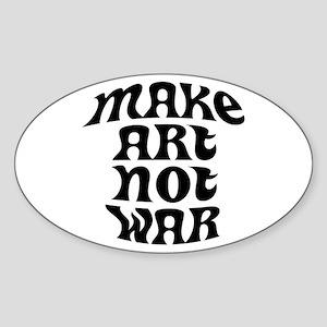 Make Art Not War Oval Sticker