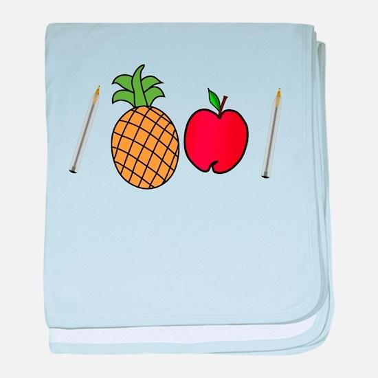 Pen Pineapple Apple Pen baby blanket