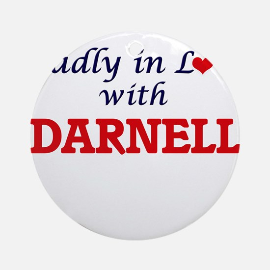 Madly in love with Darnell Round Ornament