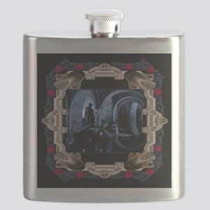 Phantom at the Lair with Red Rose Frame Flask