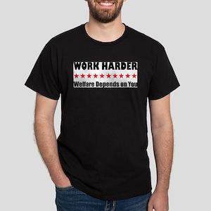 Work Harder Ash Grey T-Shirt