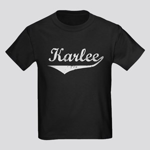 Karlee Vintage (Silver) Kids Dark T-Shirt