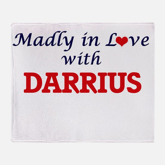 Madly in love with Darrius Throw Blanket
