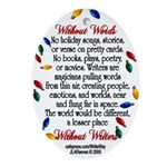 Writers Oval Ornament