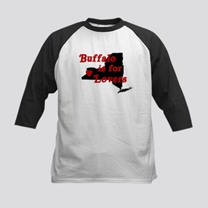 Bflo is for Lovers Kids Baseball Jersey