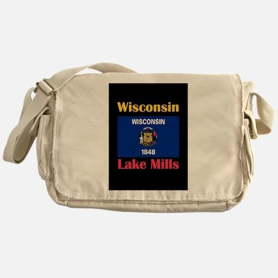Lake Mills Wisconsin Messenger Bag