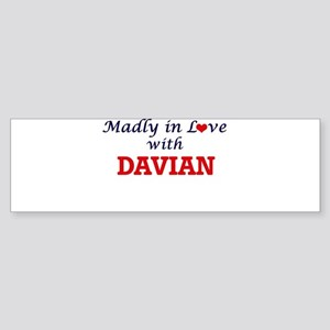 Madly in love with Davian Bumper Sticker