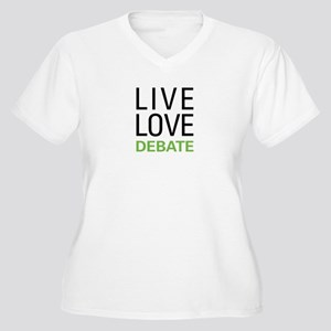 Live Love Debate Women's Plus Size V-Neck T-Shirt