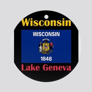Lake Geneva Wisconsin Round Ornament