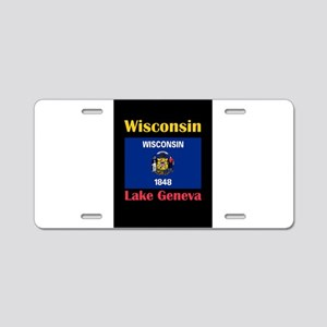 Lake Geneva Wisconsin Aluminum License Plate