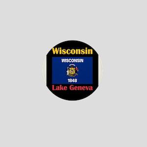 Lake Geneva Wisconsin Mini Button