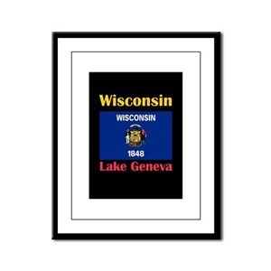Lake Geneva Wisconsin Framed Panel Print