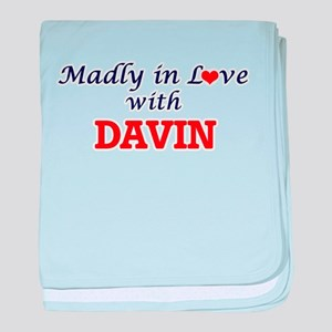 Madly in love with Davin baby blanket