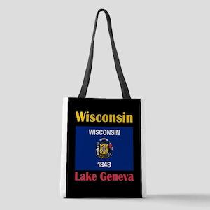 Lake Geneva Wisconsin Polyester Tote Bag