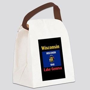 Lake Geneva Wisconsin Canvas Lunch Bag
