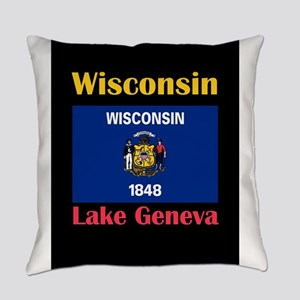 Lake Geneva Wisconsin Everyday Pillow