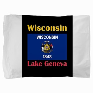 Lake Geneva Wisconsin Pillow Sham