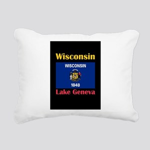 Lake Geneva Wisconsin Rectangular Canvas Pillow