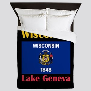 Lake Geneva Wisconsin Queen Duvet