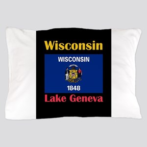 Lake Geneva Wisconsin Pillow Case
