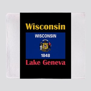 Lake Geneva Wisconsin Throw Blanket